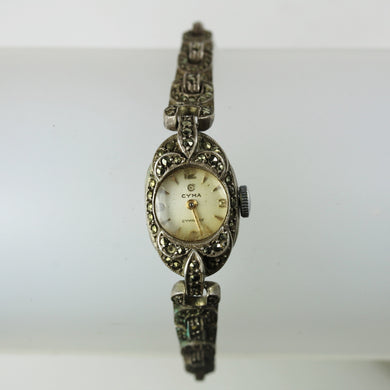 Cyma Ladies Marcasite Art Deco Wind Up Watch