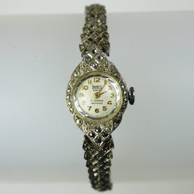 Lauris Ladies Marcasite Art Deco Wind Up Watch
