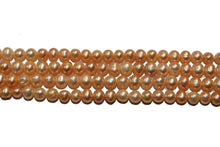 Peach Opera Length Pearl Necklace