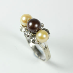 Elegant 14ct White Gold Freshwater Pearl Ring