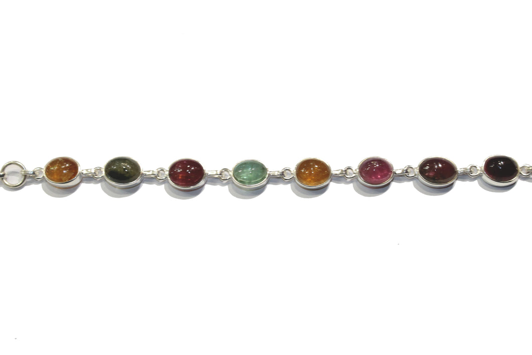 Multicoloured Tourmaline Bracelet