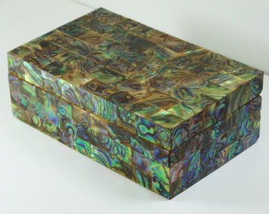 Abalone Shell and  Wood Jewellery Box