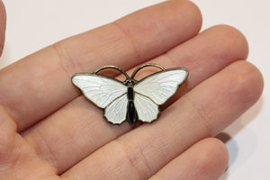 Norwegian Sterling Silver Enamel Butterfly
