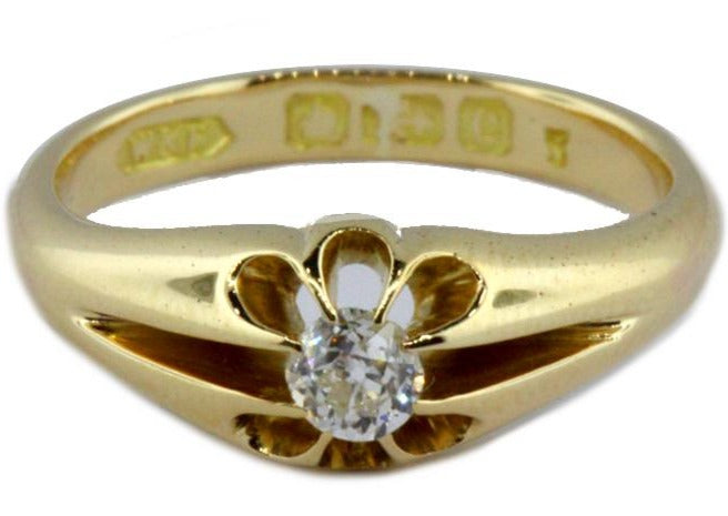 Antique 18ct Yellow Gold Diamond Engagement Ring