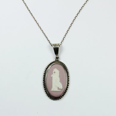 Sterling Silver Wedgewood Pendent and Chain