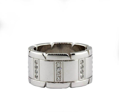 18ct White Gold Diamond Cartier Style Ring
