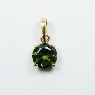 18ct Yellow Gold Green Sapphire Pendent