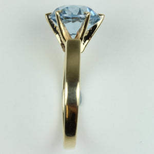 9ct Yellow Gold Blue Spinel Dress Ring