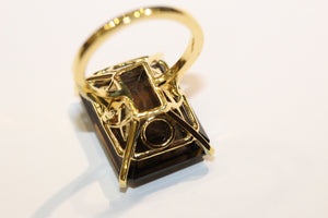 1970s Smoky Quartz Cocktail Ring