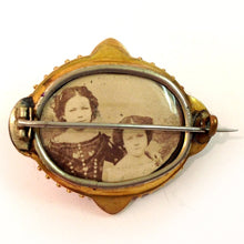 Antique Victorian Tourmaline and Enamel Photo Brooch
