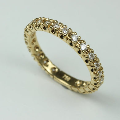 18ct Yellow Gold Diamond Eternity Band