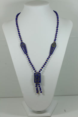 Hand Carved Antique Art Deco Style Necklace