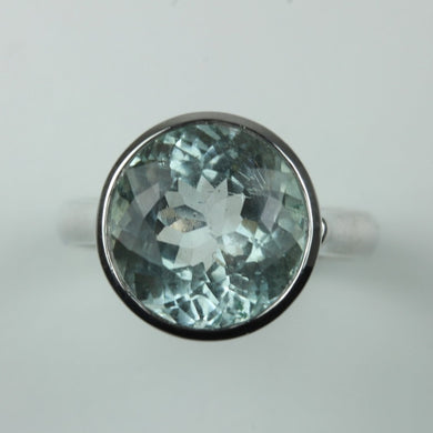 9ct White Gold 6.18ct Aquamarine Ring