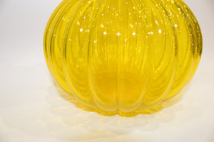 Vintage Yellow Glass Decanter