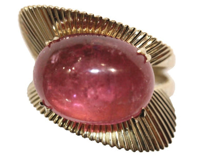 14k Retro Cocktail Tourmaline Ring