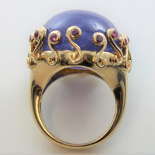 67.02ct Tanzanite and Sapphire Ring