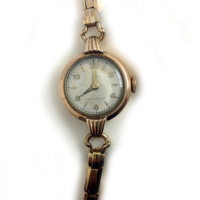 Antique 9ct Rose Gold Plated 'Envoy' Ladies Wristwatch