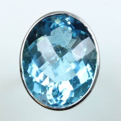 36.77ct Blue Topaz Cocktail Ring.