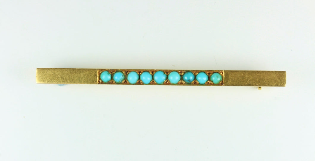 Turquoise 18ct Gold Tie Pin
