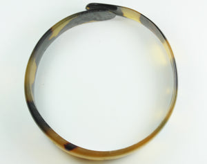 Tortoiseshell Bangle With Overlapping Ends