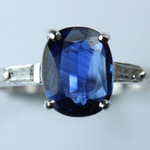 9ct White Gold 2.32ct Blue Kyanite and Diamond Ring
