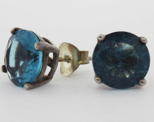 9ct London Blue Topaz Studs