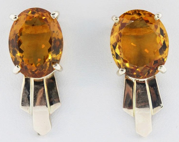 9ct Natural Citrine Studs