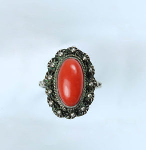Coral Ladies Ring