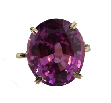 Synthetic Purple Sapphire in 9ct Gold