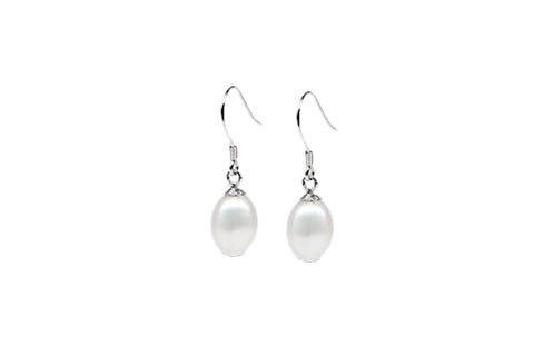 Sterling Silver Cultured Pearl Drop Earrings