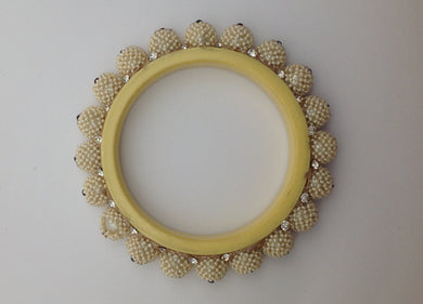 Faux Pearl Bangle