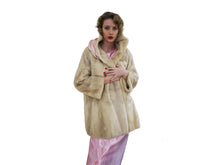 Vintage White Mink Fur Coat
