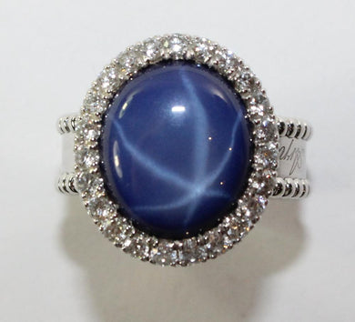 18ct White Gold Van Cleef & Arpels Signature Star Sapphire Ring
