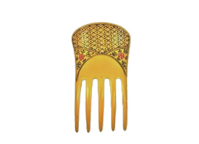 Vintage Celluloid Hair Comb with Crystals