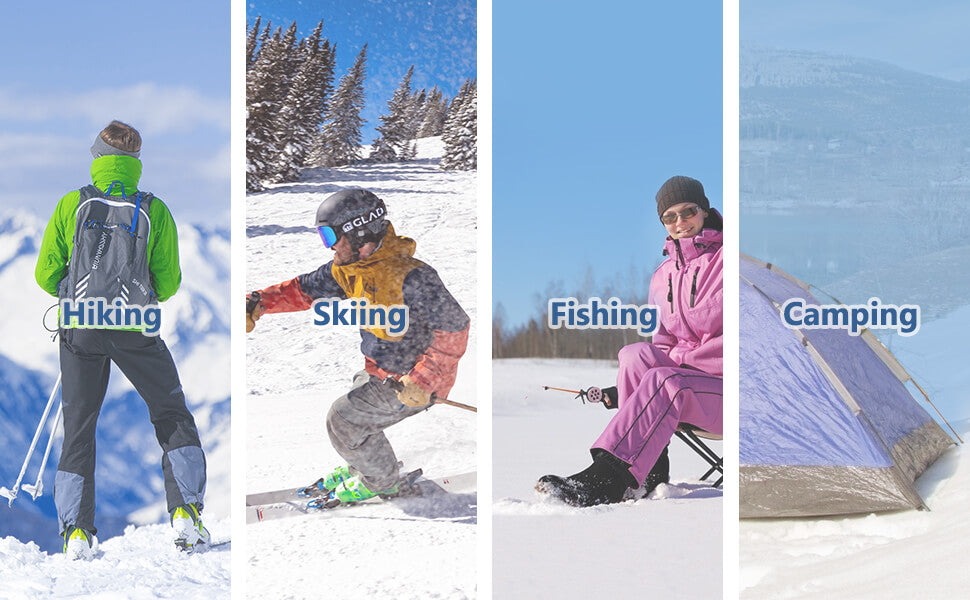 women hiking pants ready for skiing, hiking, fishing and camping