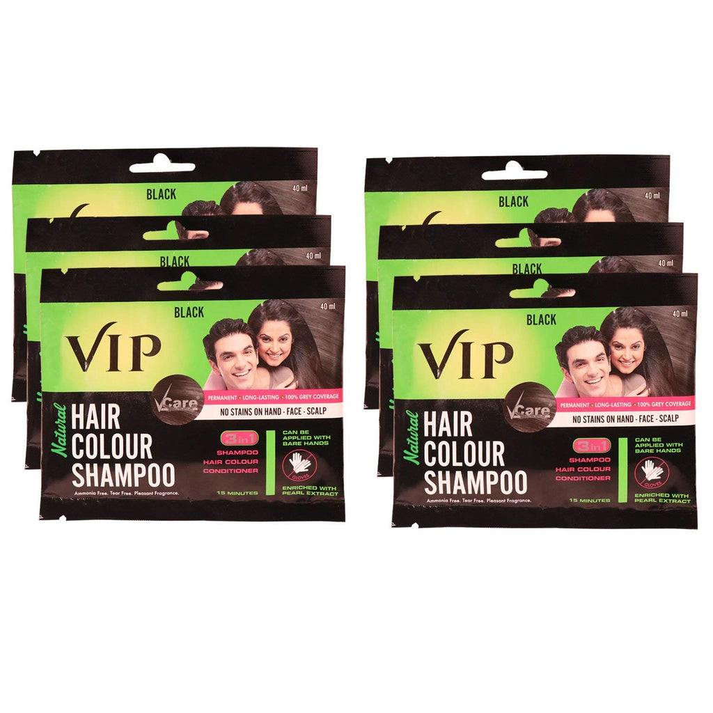 c7164f84a Vip Hair Colour Shampoo 3 In 1 (Pack Of 12 + 1 Free) – A1 Quality Store