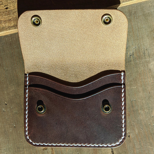 Green Lane - Small Snap Wallet - Caliber Leather Company