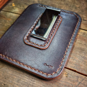 Riley - Card Wallet Money Clip - Caliber Leather Company