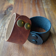 Leather Cuff Bracelet - Caliber Leather Company