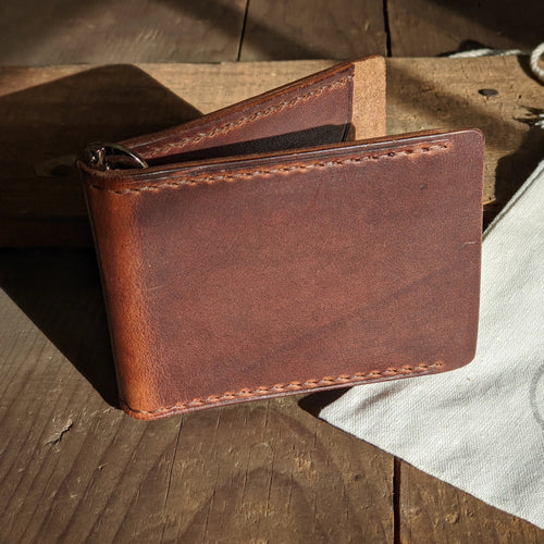 Anderson Creek - Bifold Money Clip Wallet - Caliber Leather Company