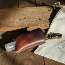Load image into Gallery viewer, Leather Hand Sanitizer Holder - Caliber Leather Company