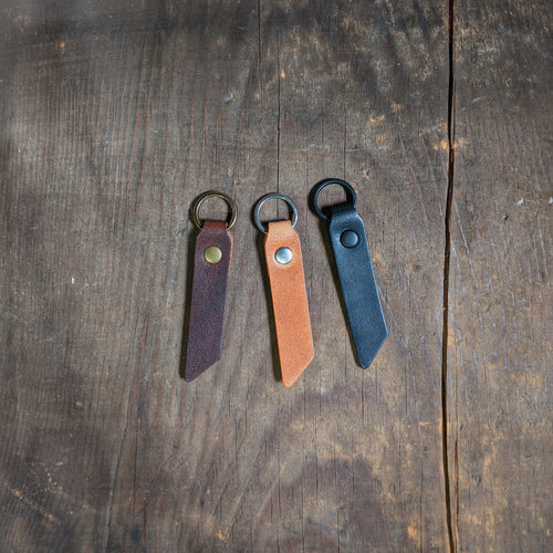Minsi - Personalized Leather ID Tag - Caliber Leather Company