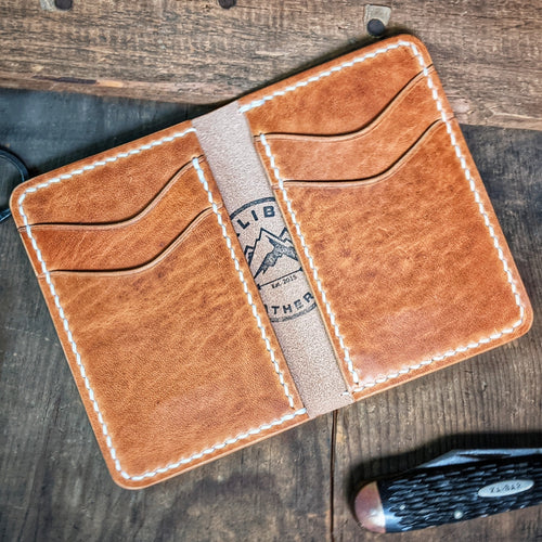 Herman - Vertical Leather Bifold Wallet - Caliber Leather Company