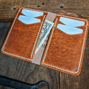 Herman - Vertical Leather Bifold Wallet