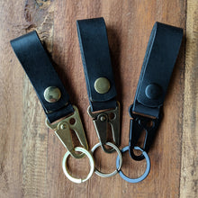 Load image into Gallery viewer, Bear Mountain - Lever Snap Keychain - Caliber Leather Company