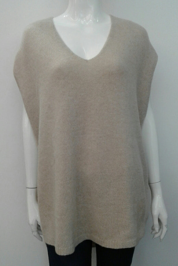 SLEEVELESS CASHMERE SWEATER
