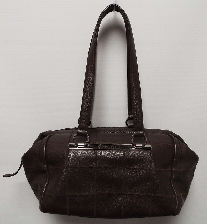 Brown Caviar leather bag