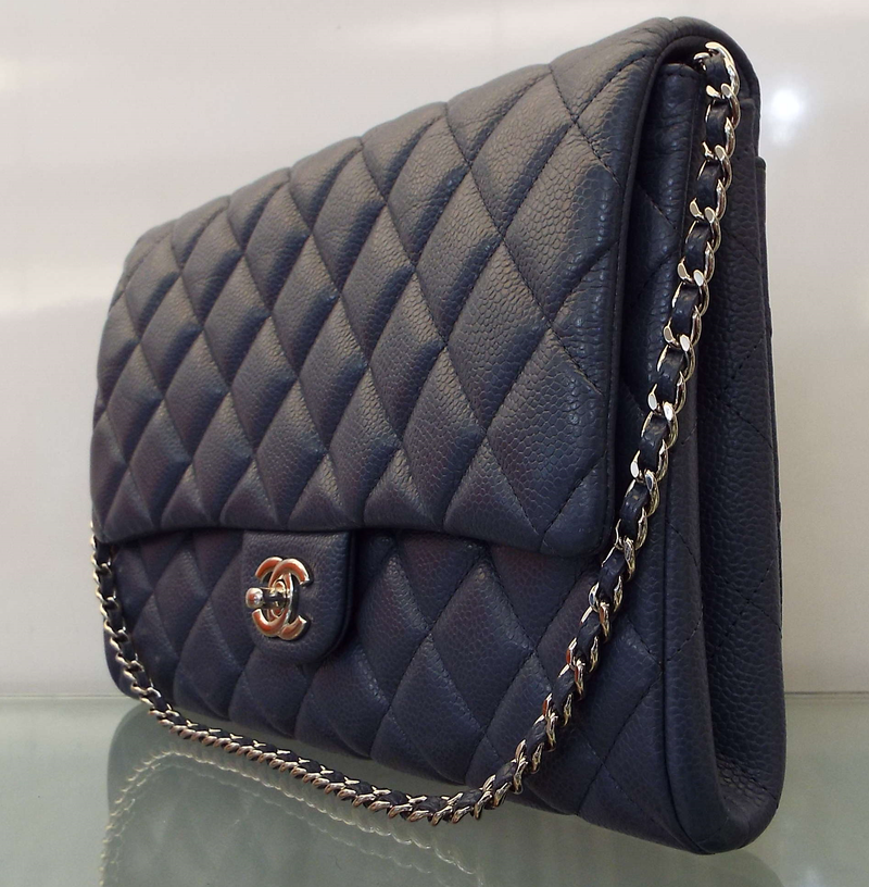 CLUTCH WITH CHAIN FLAP BAG