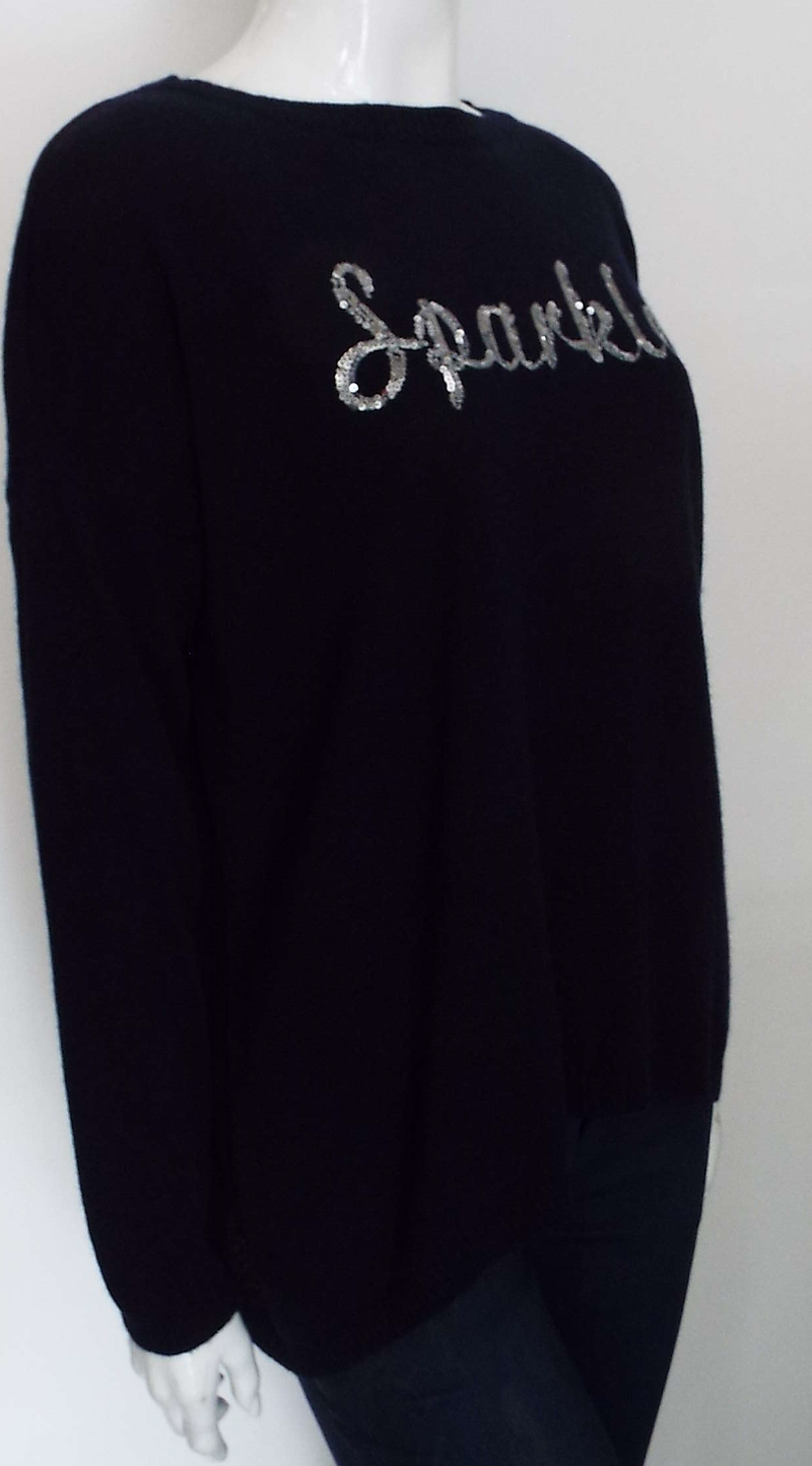 NAVY SPARKLE SWEATER
