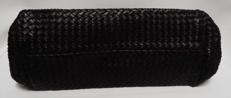 Limited Edition Black Intrecciato Woven Leather Bag